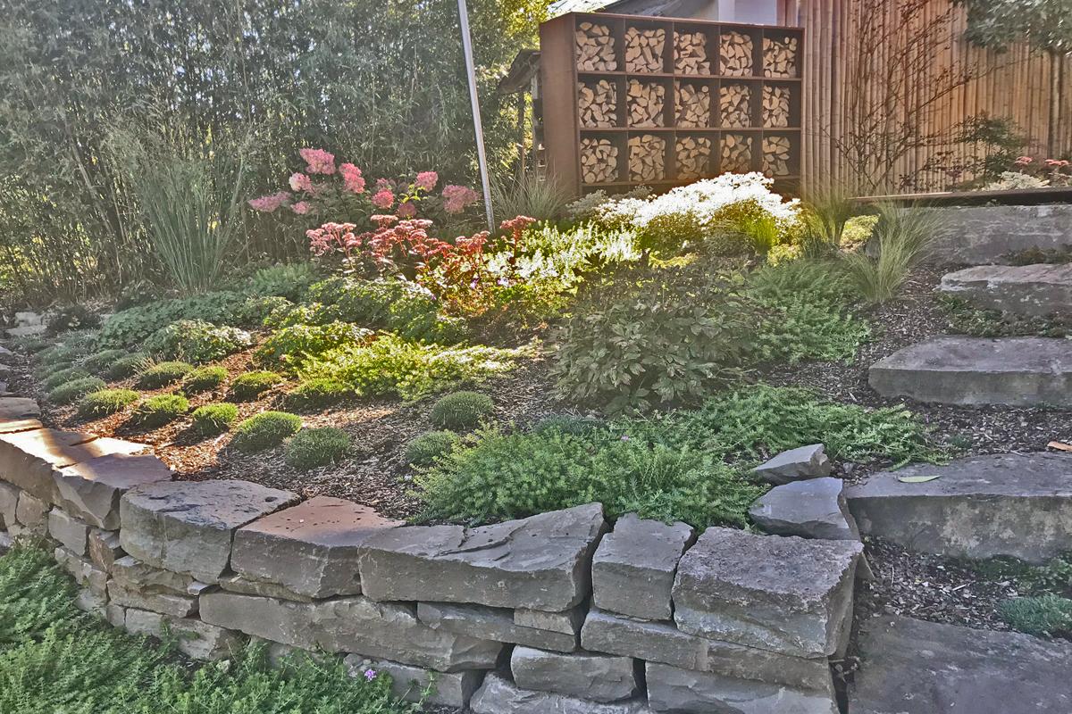 Hochbeet Stauden Corten Sichtschutz Garten Und
