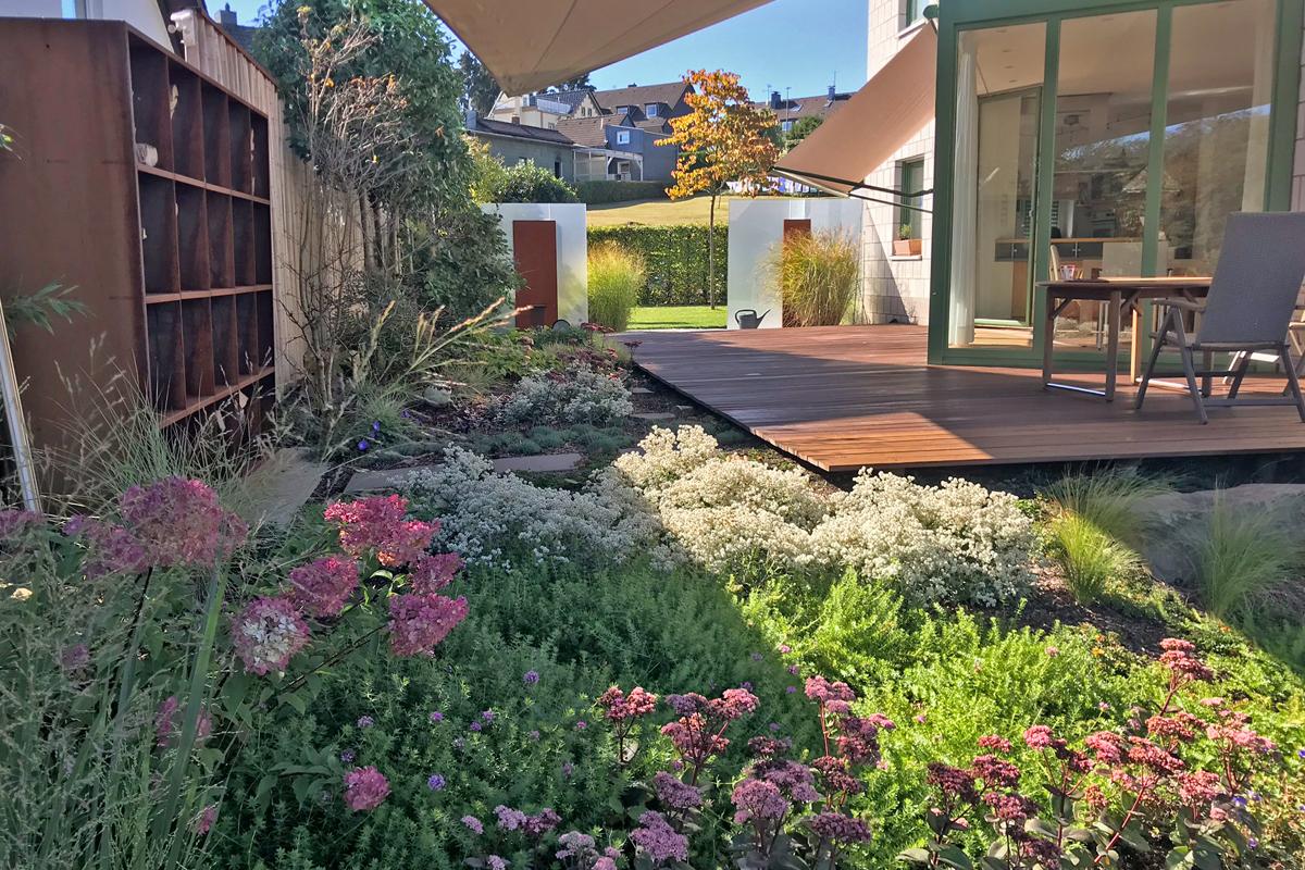 Terrasse Sichtschutz Corten Beete Garten Und