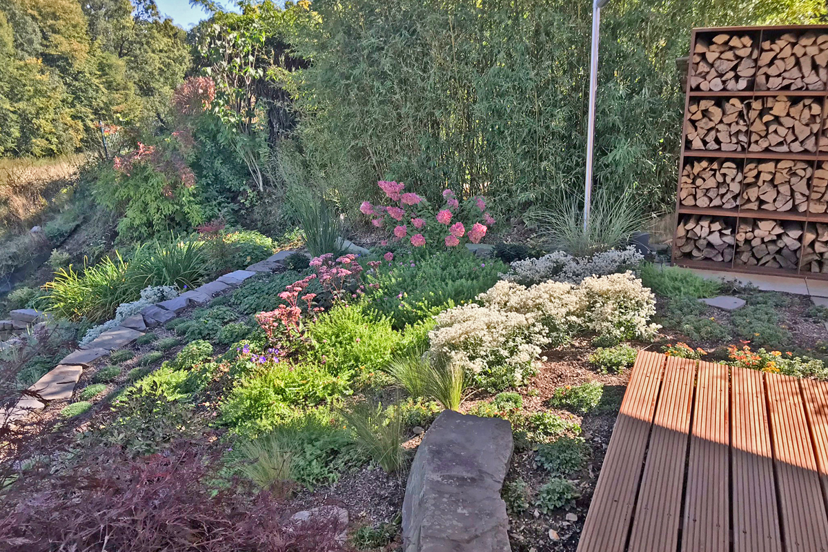 Terrasse Sichtschutz Corten Beete1 Garten Und